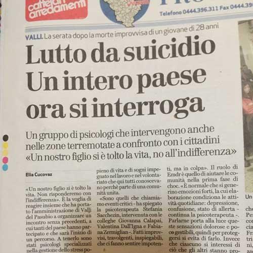 Articolo per un lutto da suicidio